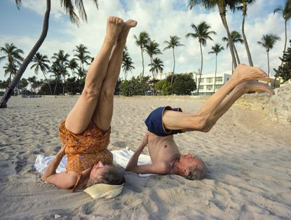 Retirees Exercising on Miami Beach